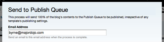 Send to Publish Queue Screenshot